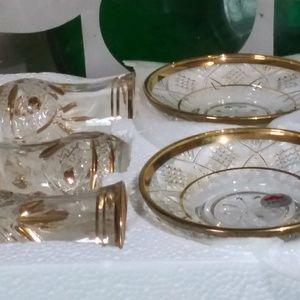 ABKA Turkish Tea Service 12kt Gold